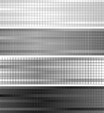 Abstract grey geometric banners Stock Images