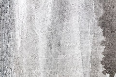 Abstract grey hand painted canvas surface background. Closeup Stock Image