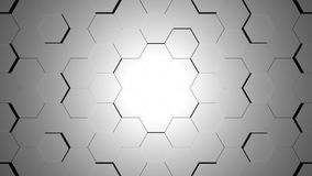 Abstract grey hexagon geometric surface. Light bright clean minimal hexagonal grid pattern, background canvas in pure wall architectural white Vector Illustration