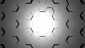 Abstract grey hexagon geometric surface. Light bright clean minimal hexagonal grid pattern, background canvas in pure wall architectural white Royalty Free Illustration