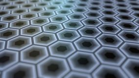 Abstract grey hexagons. 3D rendering background Stock Photography