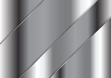 Abstract grey metallic plate vector design Stock Photos