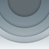 Abstract grey paper circles  background Stock Photos