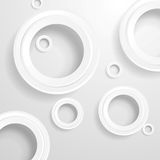 Abstract grey paper circles background Royalty Free Stock Photography