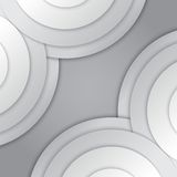 Abstract grey paper circles vector background Stock Photo