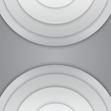 Abstract grey paper circles vector background Royalty Free Stock Photography