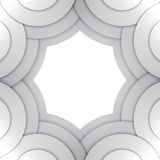 Abstract grey paper circles vector background Stock Image