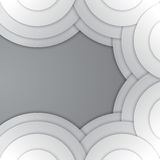 Abstract grey paper circles vector background Stock Photos