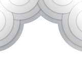 Abstract grey paper circles vector background Royalty Free Stock Photo