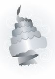 Abstract grey paper roll on white Royalty Free Stock Photo