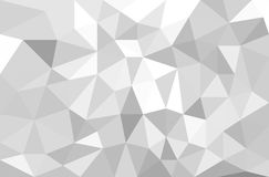 Abstract Grey Polygonal Background stock illustratie