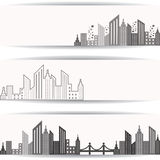Abstract grey real estate design for website banner. Illustration of abstract grey  real estate  design for website banner Royalty Free Stock Photography