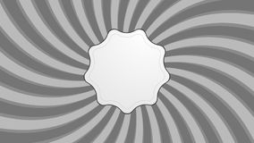Abstract grey retro swirl video animation stock footage