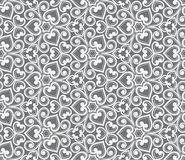 Abstract grey seamless hand-drawn pattern. Royalty Free Stock Images