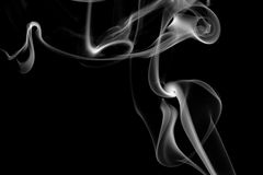 Abstract grey smoke isolated Royalty Free Stock Image