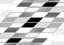 Abstract grey tech geometric corporate background Stock Photography