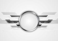 Abstract grey technology design with silver circle Stock Photography