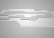 Abstract grey technology vector background Stock Photos