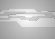 Abstract grey technology vector background Stock Photos