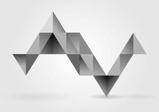 Abstract grey triangles infographics vector design Royalty Free Stock Photo