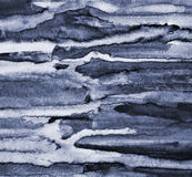 Abstract grey watercolor on paper texture as background Stock Images