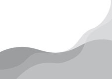 Abstract grey waves. On the white background stock illustration