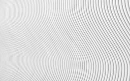 Abstract grey white waves and lines pattern. 3d render.  Royalty Free Stock Photography