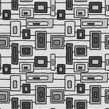 Abstract grey windows vector seamless pattern vector illustration