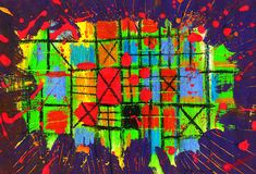 Abstract -Grid. Abstract and  Grid and sector and painting Royalty Free Stock Photography