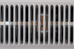 Abstract grid. Seamless shot of a white radiator - abstract grid Royalty Free Stock Photography