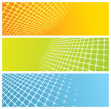 Abstract grid banners Royalty Free Stock Image