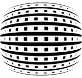 Abstract grid with convex, spherical warp effect. Royalty Free Stock Image