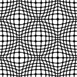 Grid pattern. Abstract grid, geometric seamless pattern, black and white background Stock Image