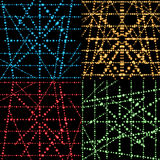 Abstract  grid with glowing set. Digital design light,  neon. Ve Royalty Free Stock Photos