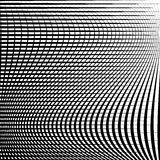 Abstract grid, mesh pattern with distortion effect. Abstract monochrome pattern, artistic geometric graphic stock illustration