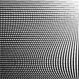 Abstract grid, mesh pattern with distortion effect. Abstract monochrome pattern, artistic geometric graphic. - Royalty free vector illustration Stock Photography