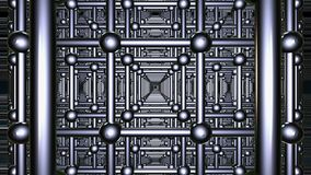 Abstract grid in metal color stock footage