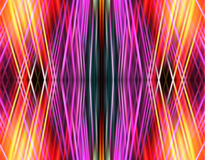 Abstract gridded background of intersecting spectral rays Royalty Free Stock Images