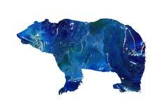 Abstract grijze, ijsbeer marmeren silhouet Groot wild dier vector illustratie