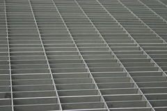 Abstract grille. Perspective view of a square metal grille royalty free stock photography