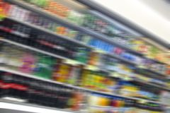 Abstract Grocery Store Blur Royalty Free Stock Photography