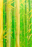 Abstract groen bamboebehang Royalty-vrije Stock Afbeelding