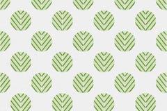 Abstract groen bladpatroon in cirkel op document geweven backgrou Royalty-vrije Stock Afbeelding