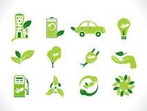Abstract groen ecopictogram Royalty-vrije Stock Afbeelding