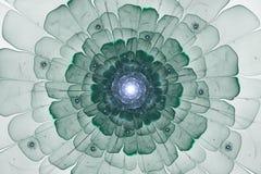 Abstract groen fractal bloemcomputer geproduceerd beeld Stock Afbeelding