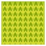 Abstract groen & geel pijnboompatroon Vector Illustratie