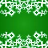 Abstract groen gloeiend geometrisch grenskader Stock Afbeeldingen