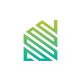 Abstract Groen Huisembleem stock illustratie