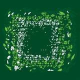 Abstract groen krassen vierkant kader Vector Illustratie