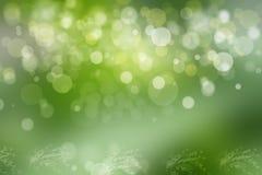 Abstract groen licht en witte de zomer bokeh achtergrond Royalty-vrije Stock Foto